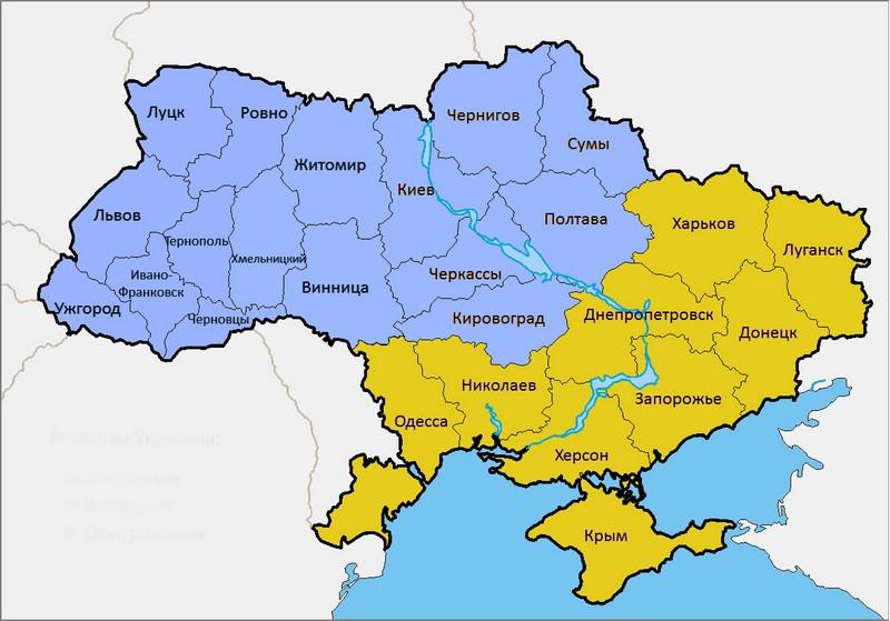 контурная карта луганской области