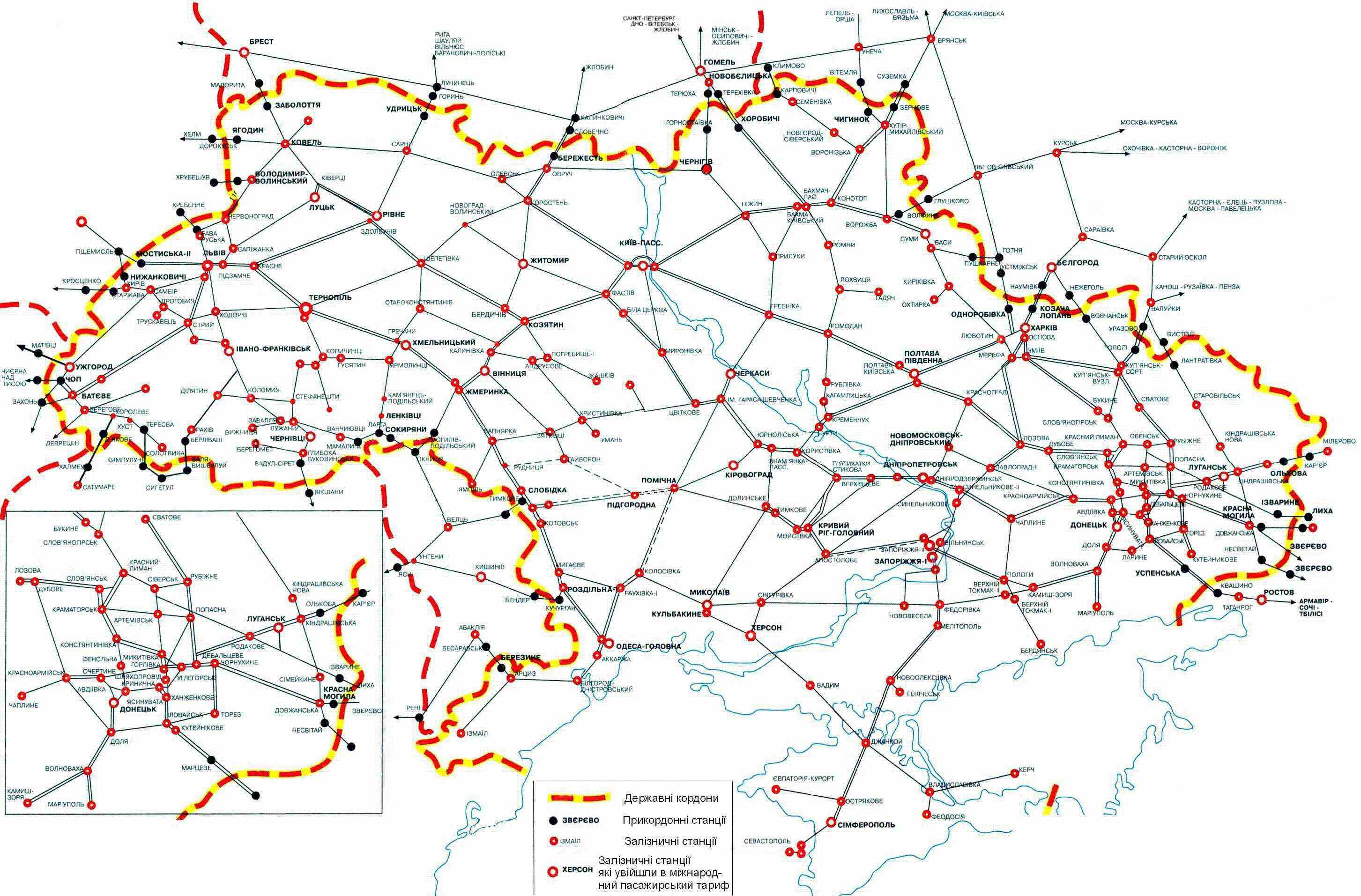 Схема донецкой железной дороги фото 32