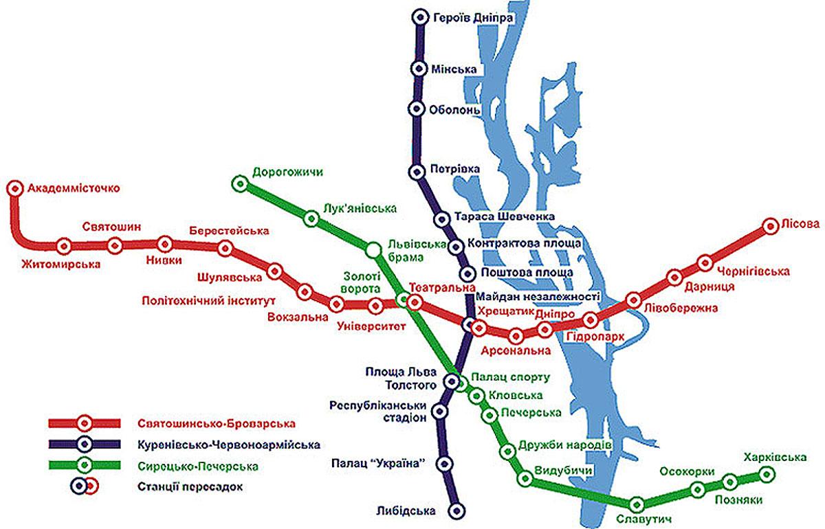 київ схема метро 2018