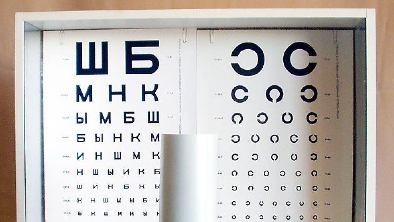 Офтальмологическая таблица для проверки